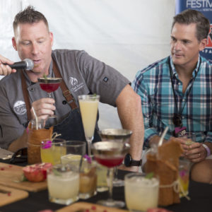 Bartender Showdown in the Empire City Casino Tent. Kevin Des Chenes comments on a drink. September 23, 2017